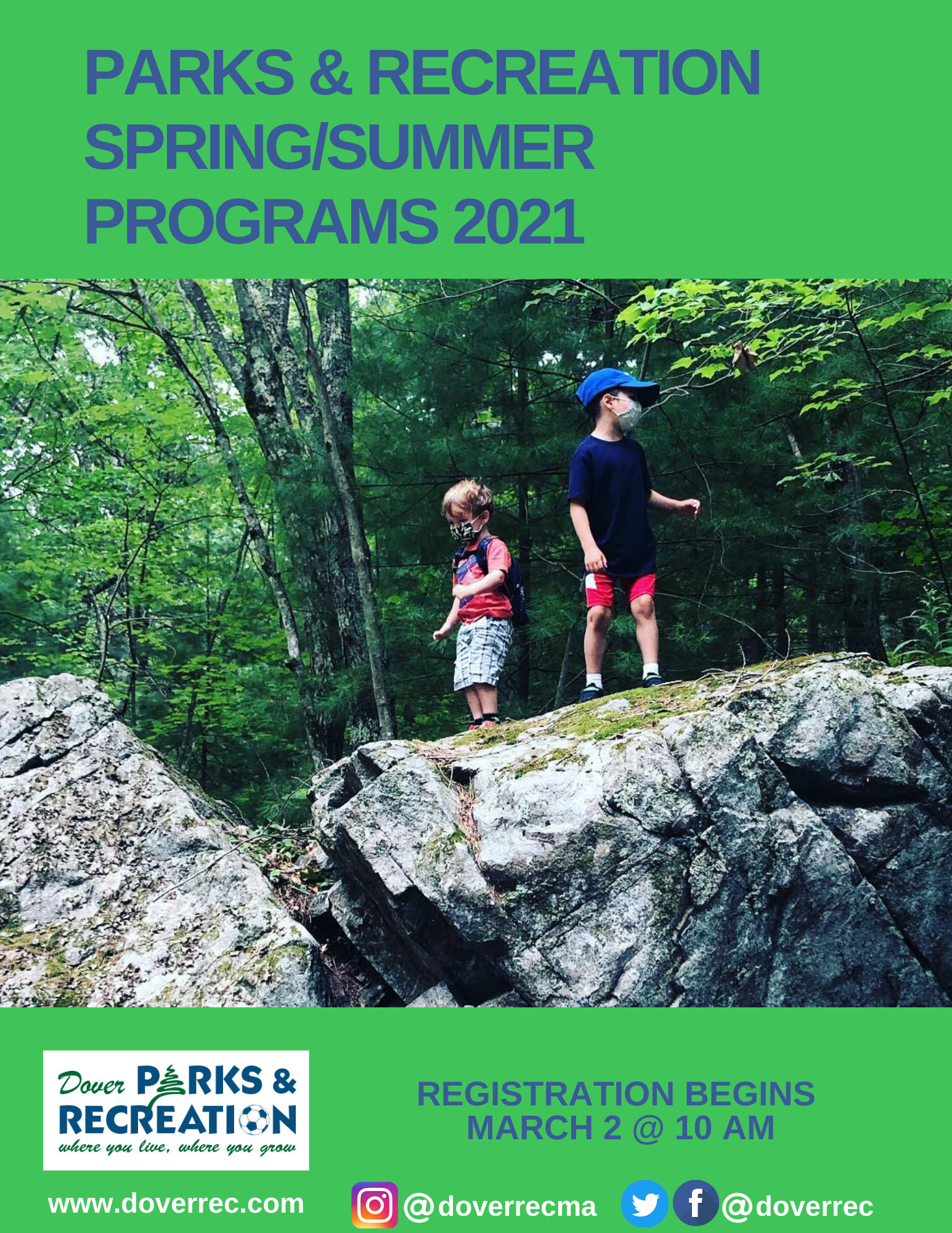 Spring and Summer 2021 Brochure Cover