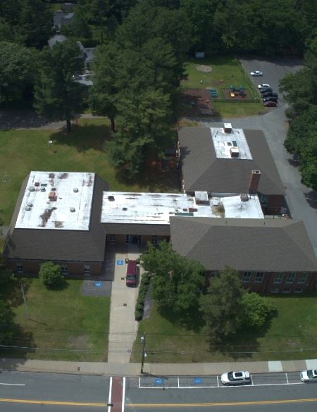 Aerial view of current Dover community center